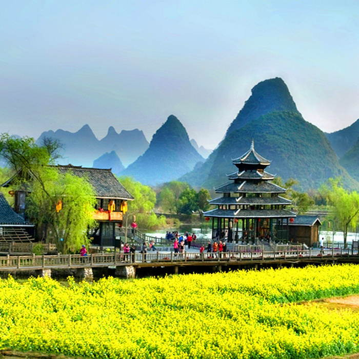 【奢享桂林】-桂林、逍遥湖、银子岩、阳朔、世外桃源双卧5日游